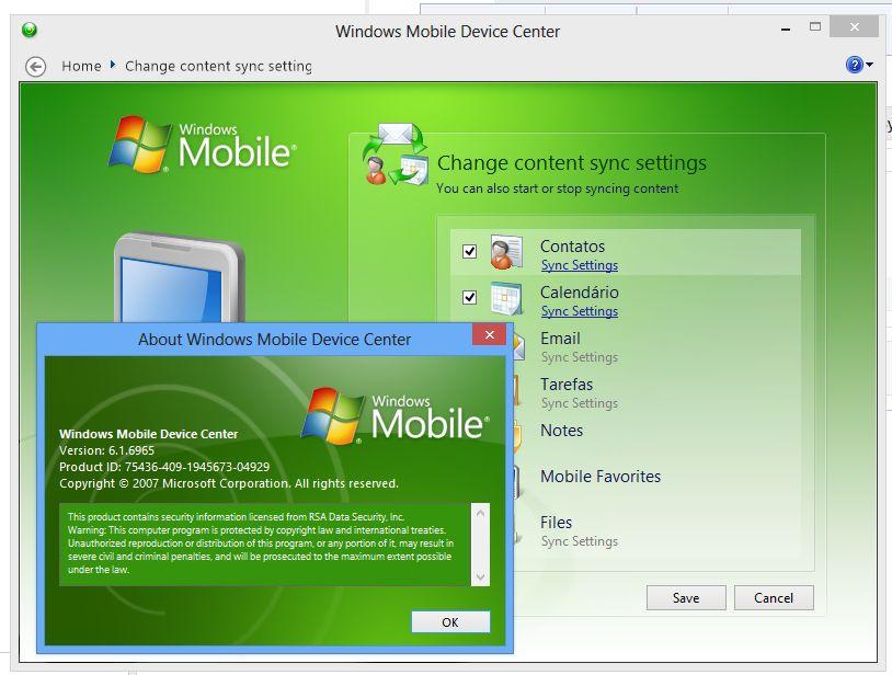 Synchronization module for Windows Vista