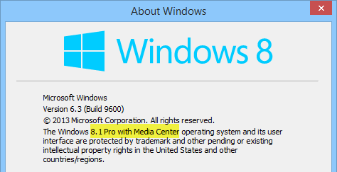activator windows 8.1 pro with media center