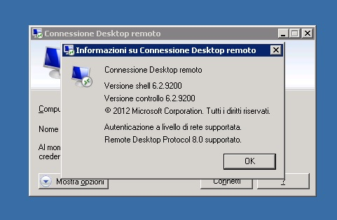 Client Remote Desktop RDC su Windows Server 2008 R2 SP1