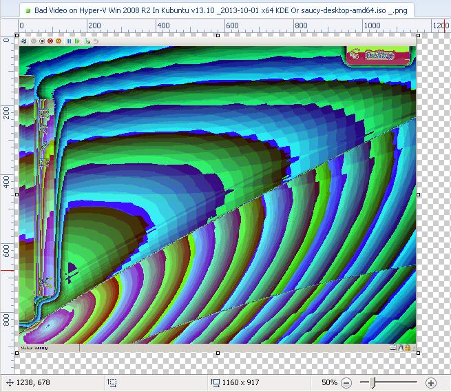 0.50 Bad Video on Hyper-V Win 2008 R2 In Kubuntu v13.10 _2013-10-01 x64 KDE