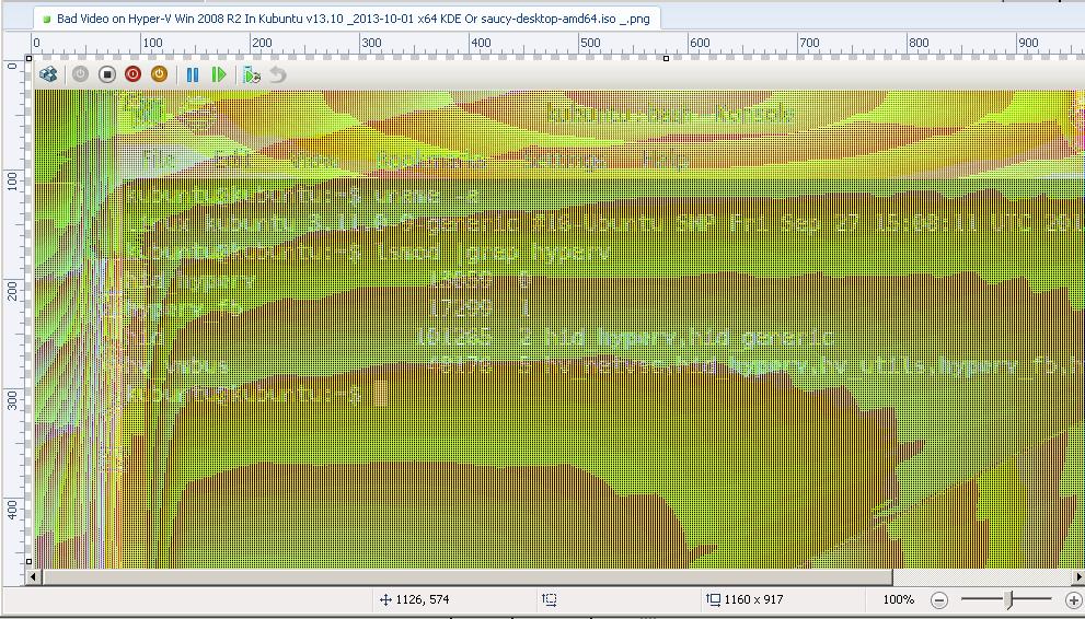 1.00 Bad Video on Hyper-V Win 2008 R2 In Kubuntu v13.10 _2013-10-01 x64 KDE
