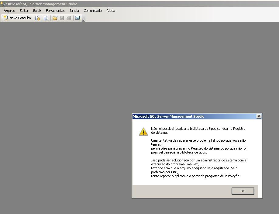 Não foi possível localizar a biblioteca de tipos correta no registro do sistema