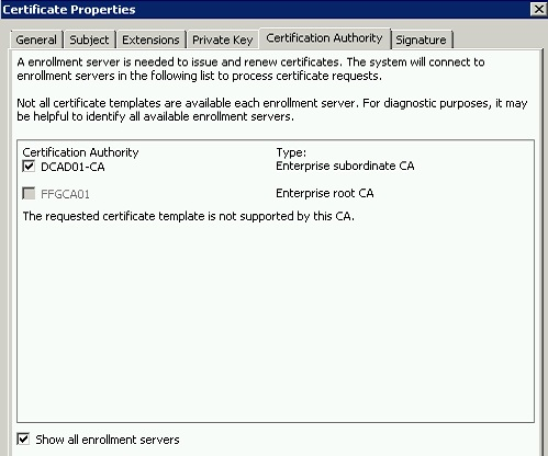 Requesting new cert access denied error 13 when trying to request new certificate as done in the above video when i drill down to see the enterprise root ca it says not supported yadclub Gallery
