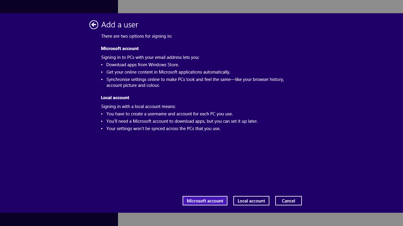 how to change account name win 8