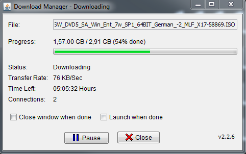 downloads not finishing