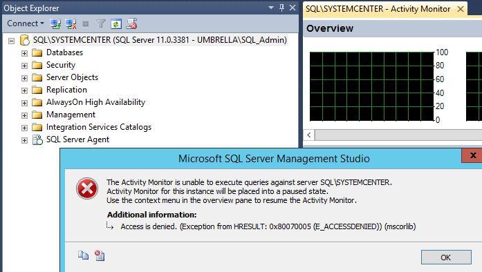 sql server 2012 sp1 menu options greyed out