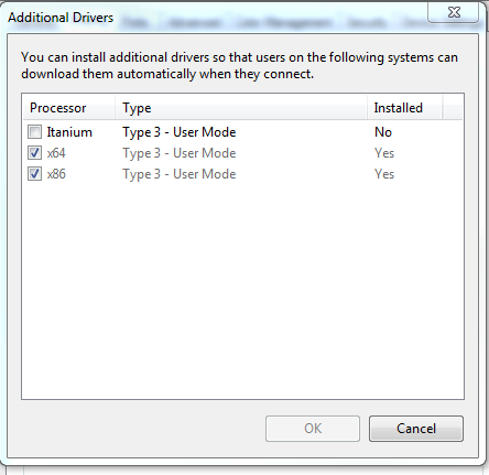 Microsoft enhanced point and print compatibility driver for windows xp.