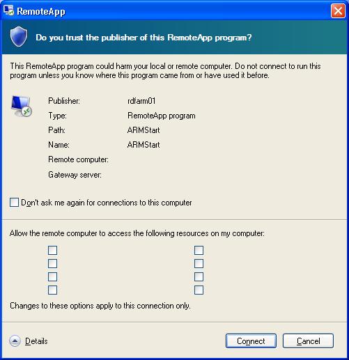 RemoteApp window bug