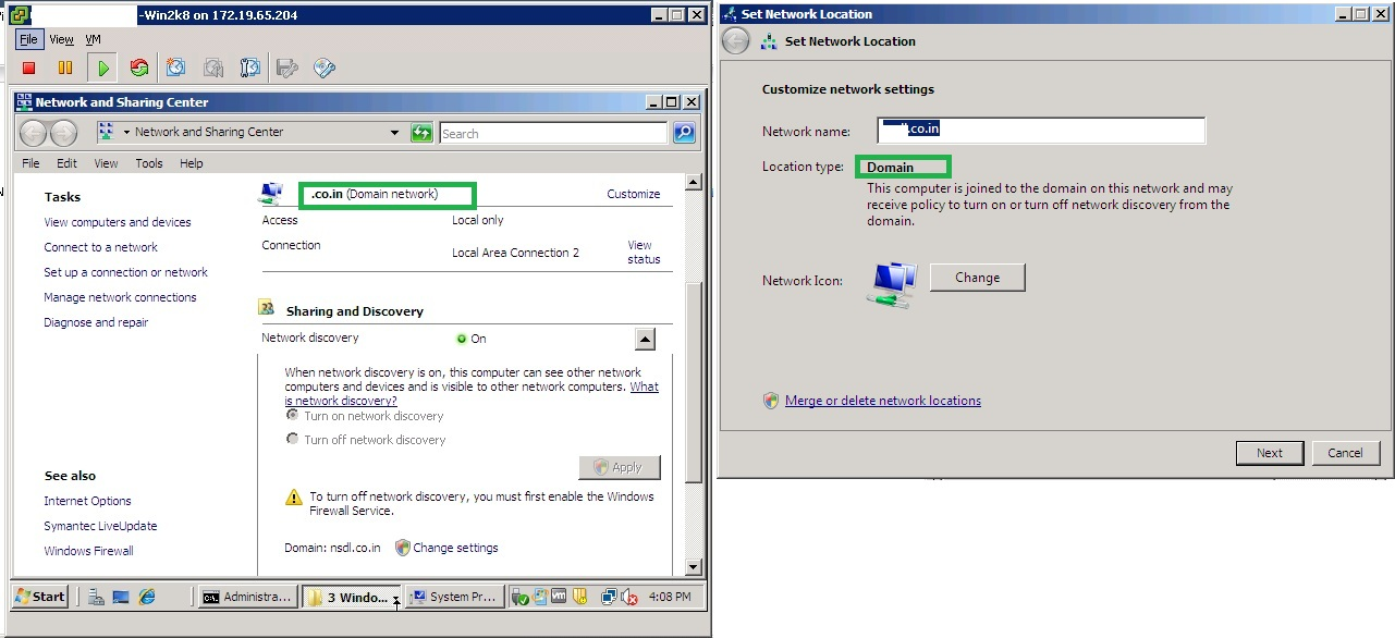 change network from public to domain windows 8.1