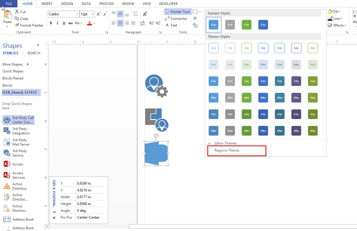 how to change stencil in visio 2013