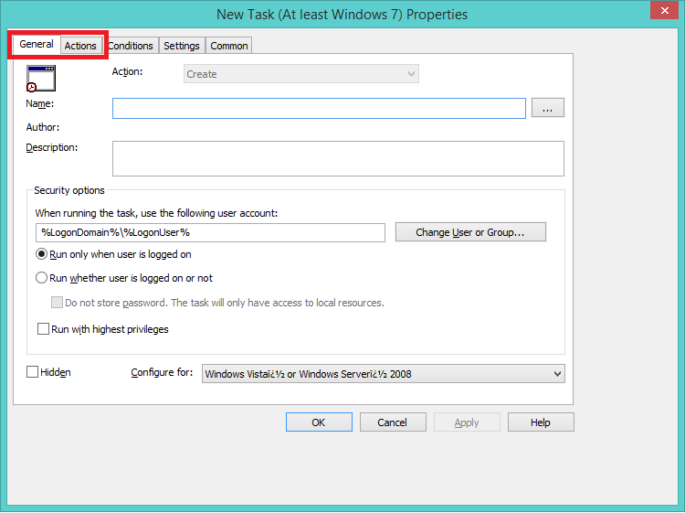 Task Scheduler over GPO: Triggers tab