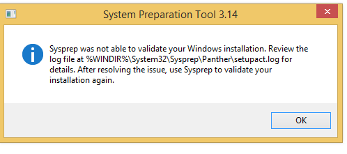 Sysprep Failure Unable to Validate Windows Installation (Bitlocker)