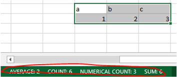 No Cell Count On Status Bar in Excel 2013