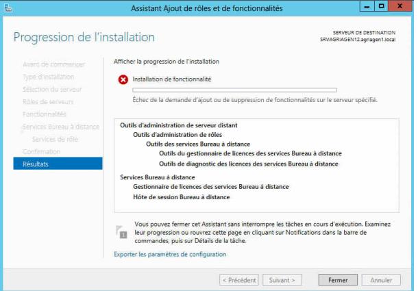 Impossible d 39 ajouter le r le h te de session bureau - Bureau a distance windows server 2012 ...