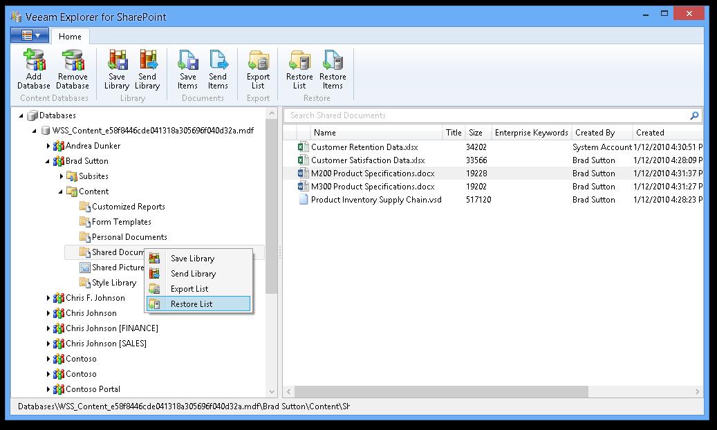 Veeam Explorer for Microsoft SharePoint 2013