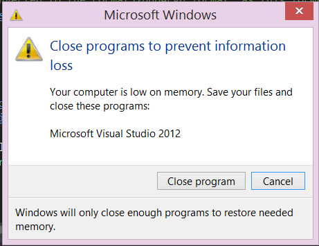 how to close running programs on windows 8