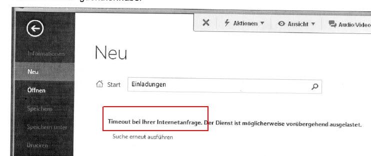 Word 2013: Timeout bei Vorlagen / Timeout when using templates