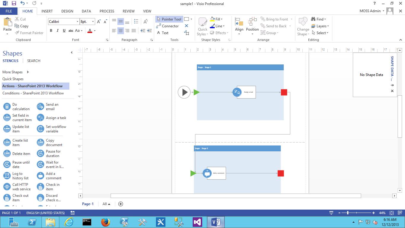 visio 2013 workflow template import not working in sharepoint designer