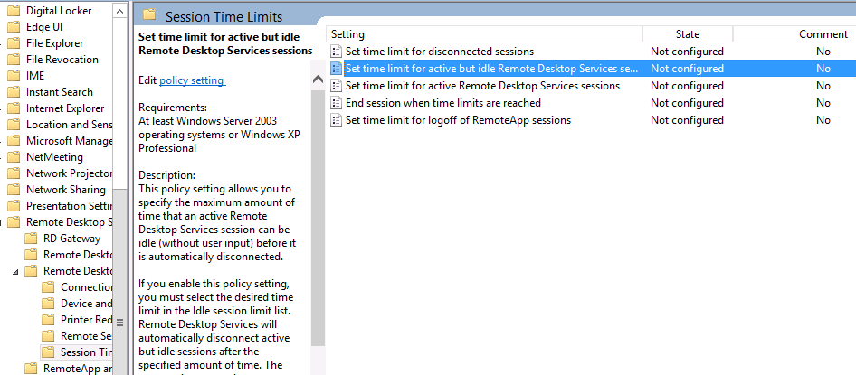 Cannot Reconnect to RDS Session on Server 2012 - Remote