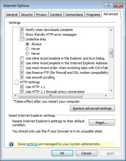 Internet Exporer 11: Disable search from address bar (entirely)