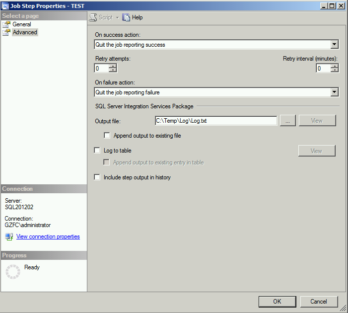 Error Log: Error Logging When Running SSIS On SQL Server Agent