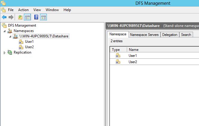 DFS Namespace - Noob question?
