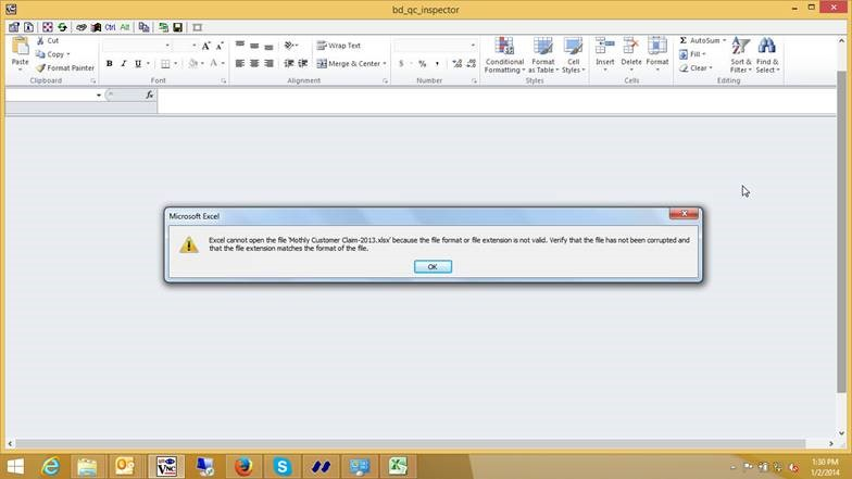 how to stop excel changing file extension