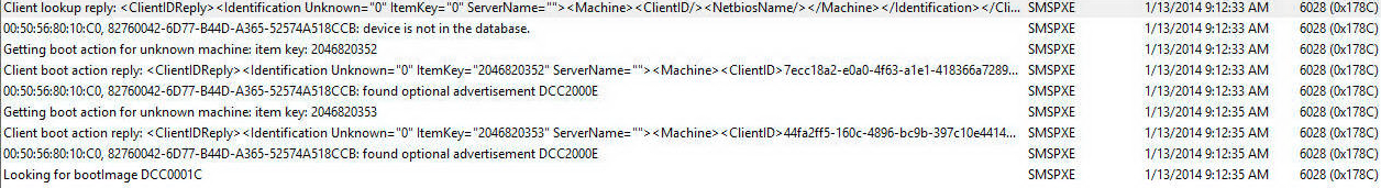 Unable to deploy OS using SCCM 2012 R2