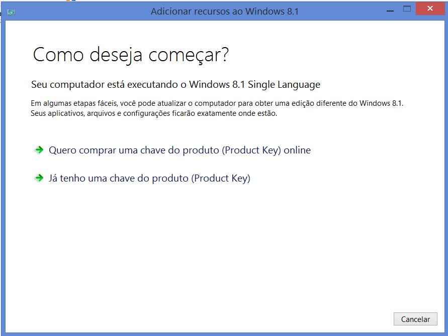 4º Ao receber o e-mail com a chave você devera atualizar seu Windows para  isso siga os passos abaixo.