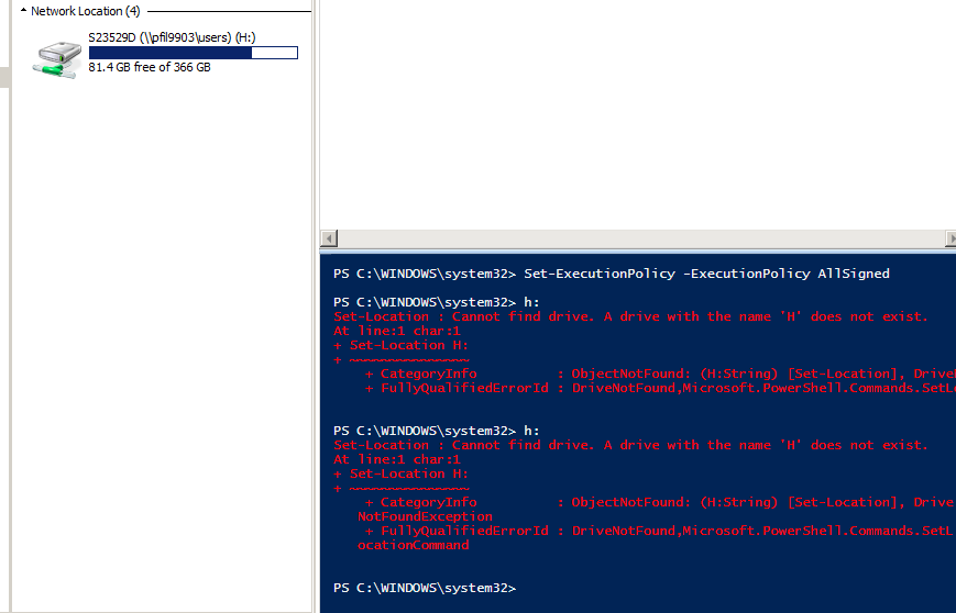 Powershell (and only Powershell) can't see network drives