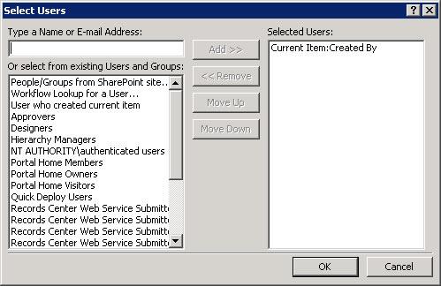 SPD Select Uses Dialog box