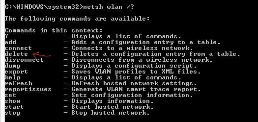 comando netsh wlan show drivers