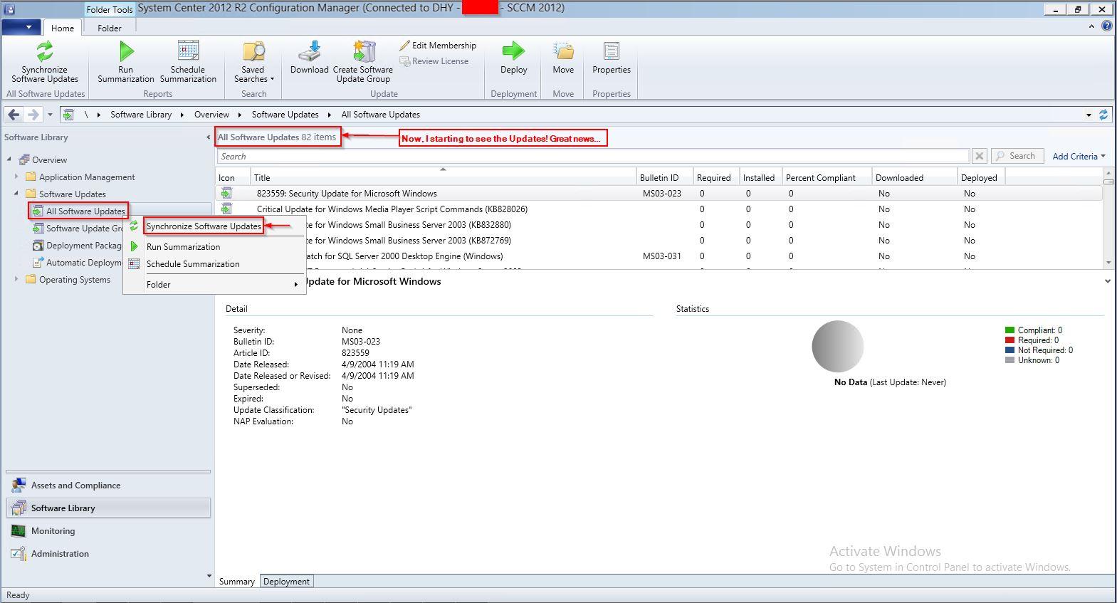 WSUS on SCCM 2012 R2