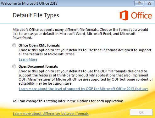 Default Files Types Screenshot