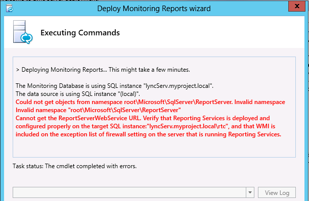 Lync server but i have an error that i can not fix could you help