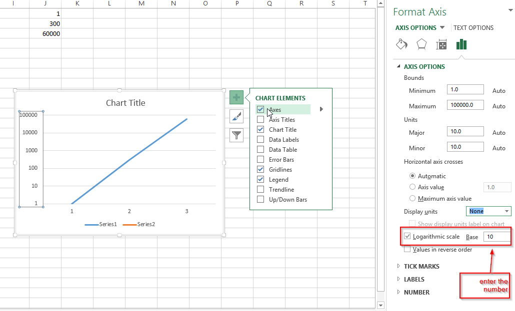 how to change vertical axis data in excel