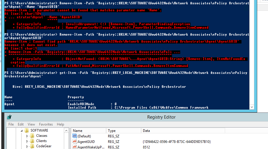 Powershell and deleting registry keys