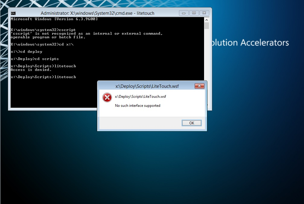 MDT 2013 - 8 1 USB Deployment - Does Not Start - Comand
