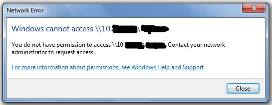 Share Folder Access Issue of Windows Server Standard 2012