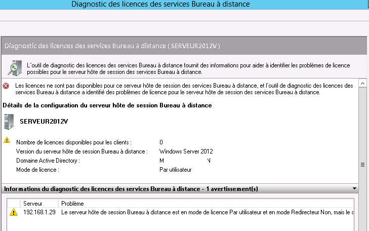 Resolu rdp activation licence ne fonctionne pas - Bureau a distance windows server 2012 ...