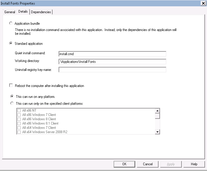 Automatic Installation of FONTS not working (MDT 2013)