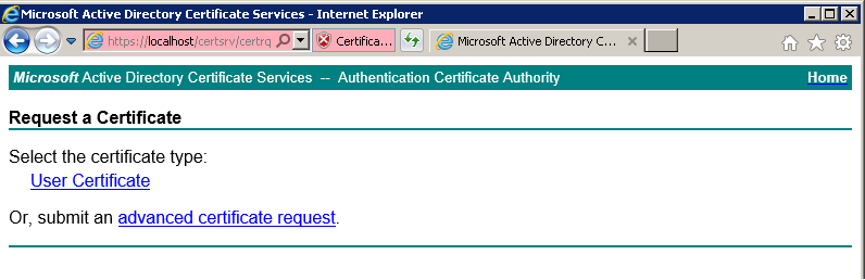 Question about missing function when using adcs certsrv webenrollment httpsocialtechnetmicrosoftforumsgetfile453301 clicking on advanced certificate request yadclub Image collections