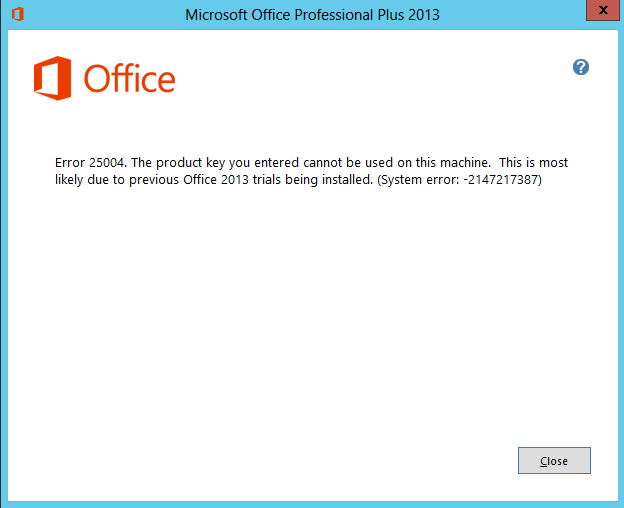 how to install product key for microsoft office 2013