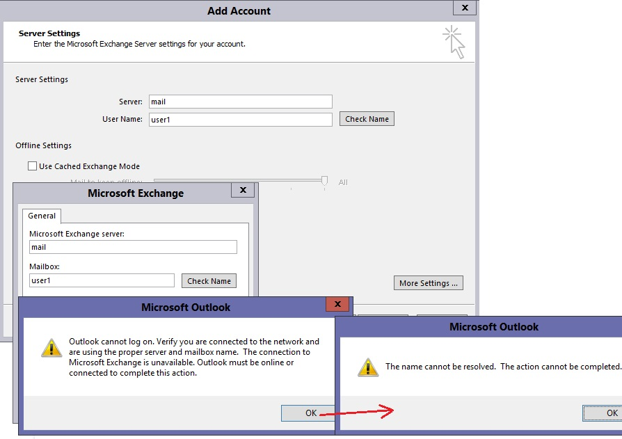 How do I connect outlook 2016 to exchange server 2007