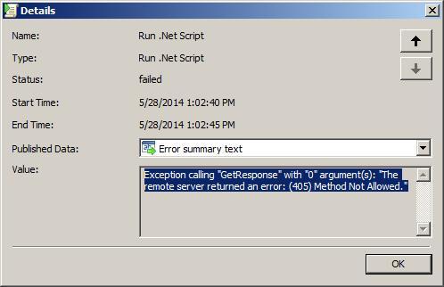 HTTP Error 405 Method Not Allowed