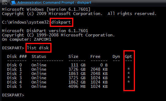 Determine if Windows 7 SP1 64-bit is installed on a MBR or