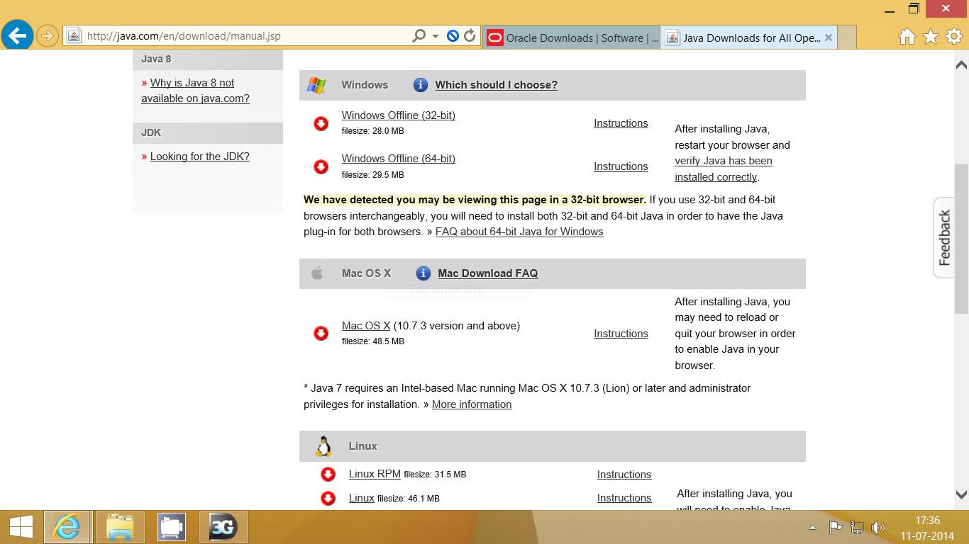 Windows 8 1 64 bit installs 32 bit browser (Internet
