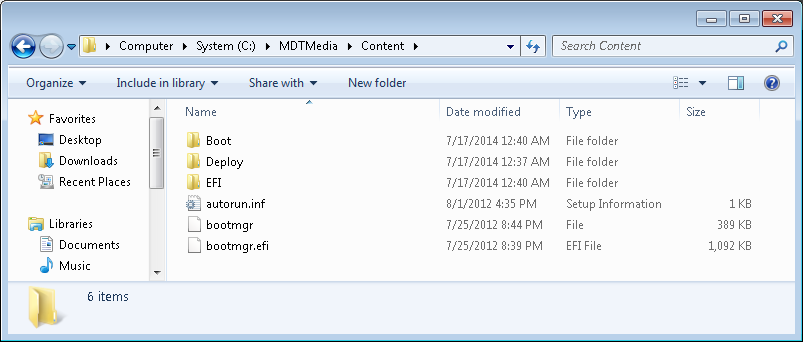 Bootable usb of windows xp from iso created from mdt.