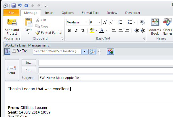 outlook how to change color font from different senders