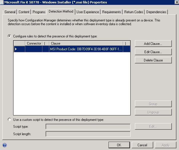 SCCM 2012 Deploy --- Error = The software change returned